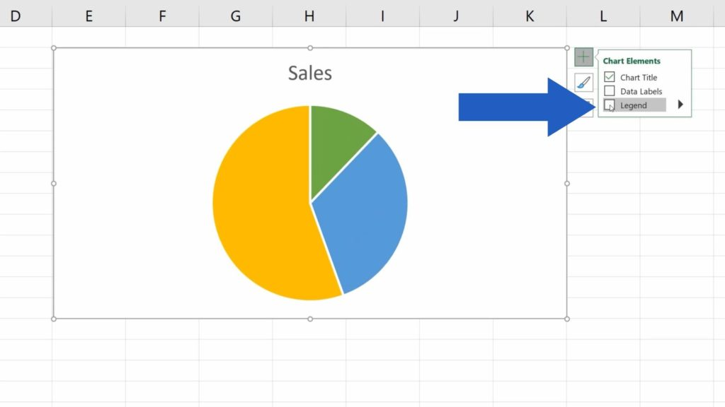 How to Add a Legend in an Excel Chart - How to remove the legend
