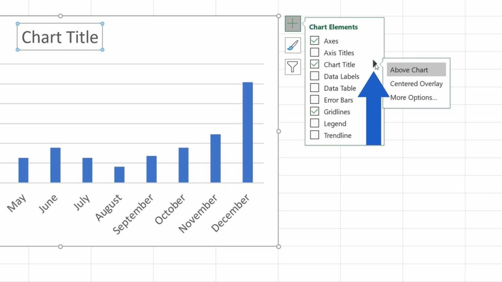 How to Add aTitle to aChart in Excel  - How to Change the Way that Chart Title Is Displayed