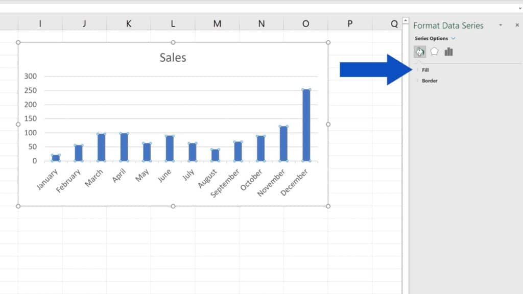 How to Change Chart Colour in Excel - Color fill and border type