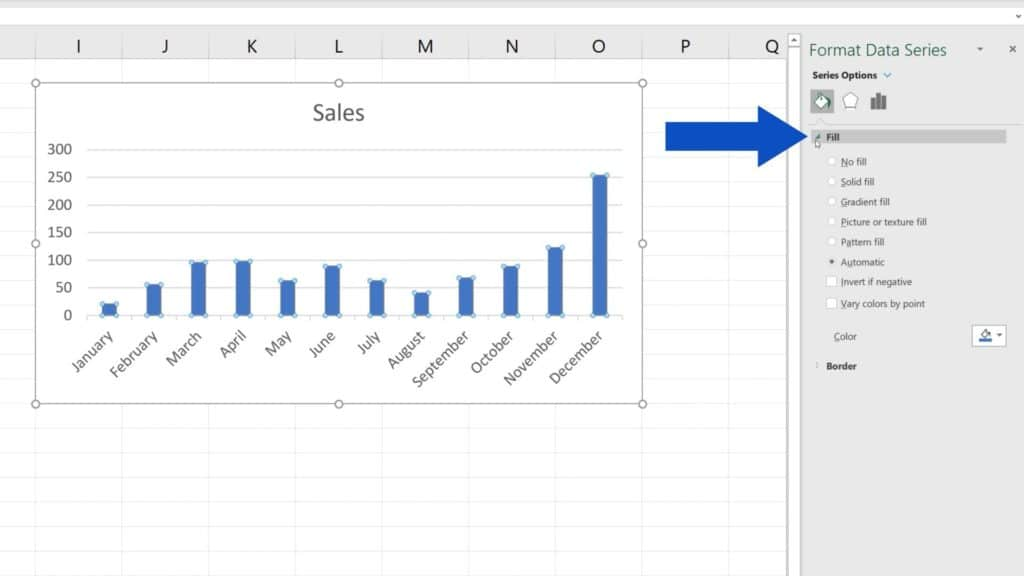 How to Change Chart Colour in Excel - Color fill options