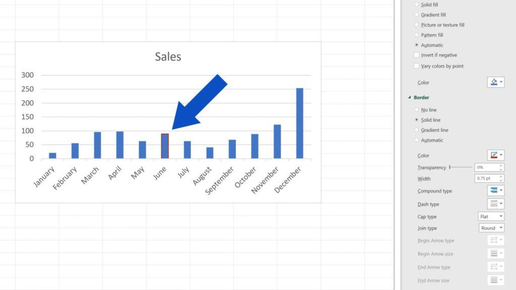 How to Change Chart Colour in Excel - Red Border