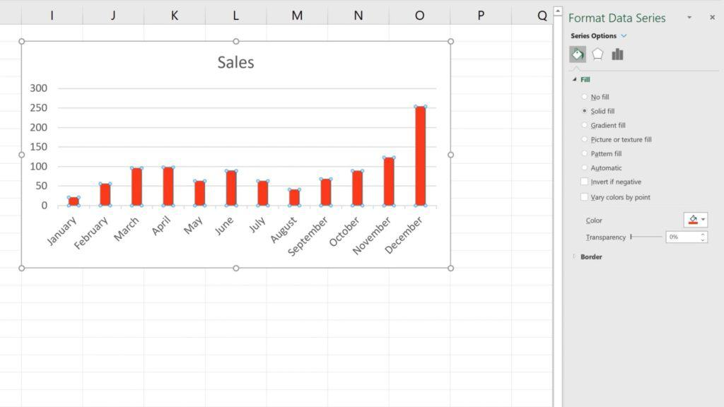 How to Change Chart Colour in Excel - Red Color Chart