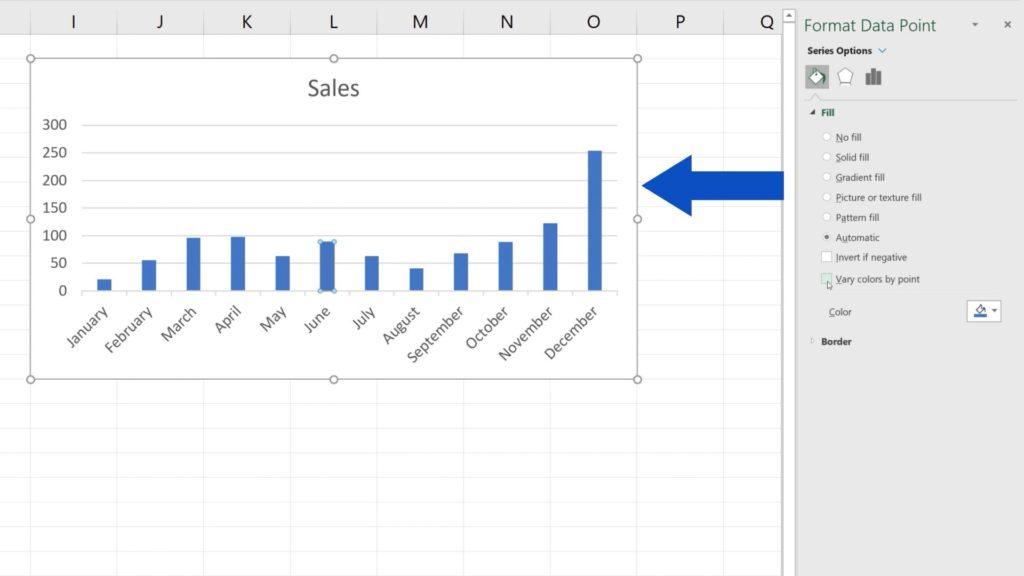 How to Change Chart Colour in Excel - one colour for all the bars