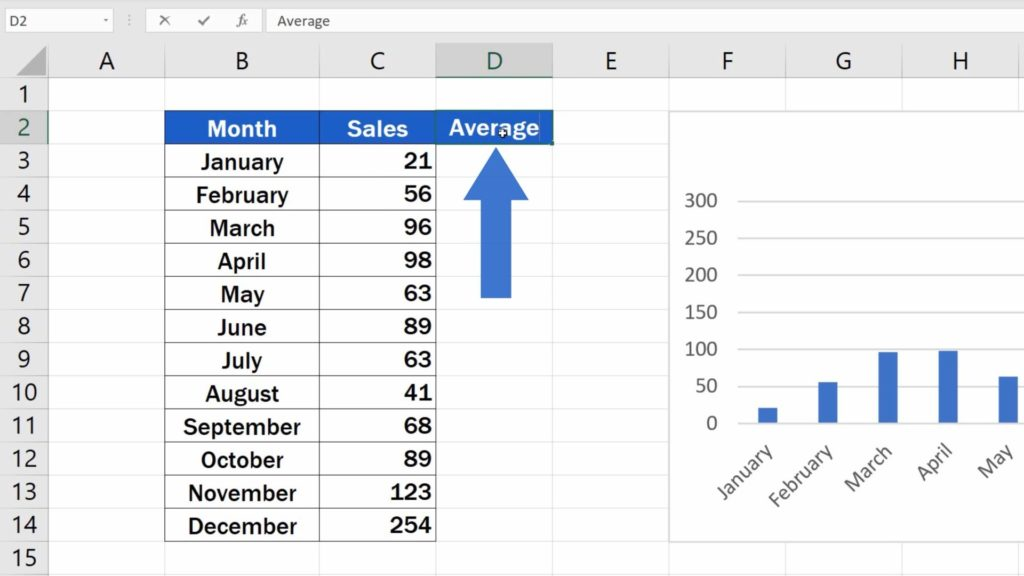 How to Add Average line in Excel Graph - Average Column