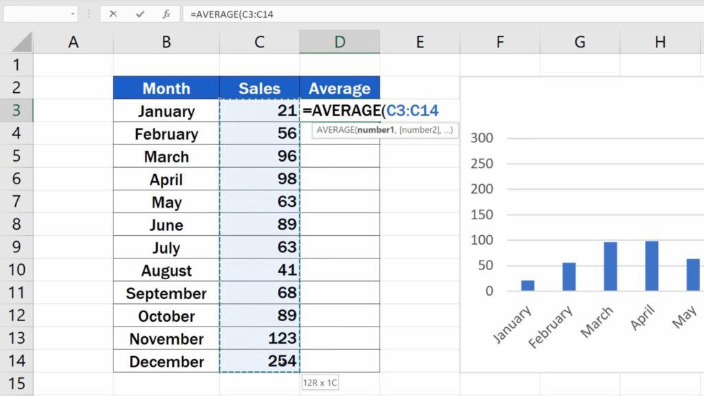 How to Add Average line in Excel Graph - Calculating the Average