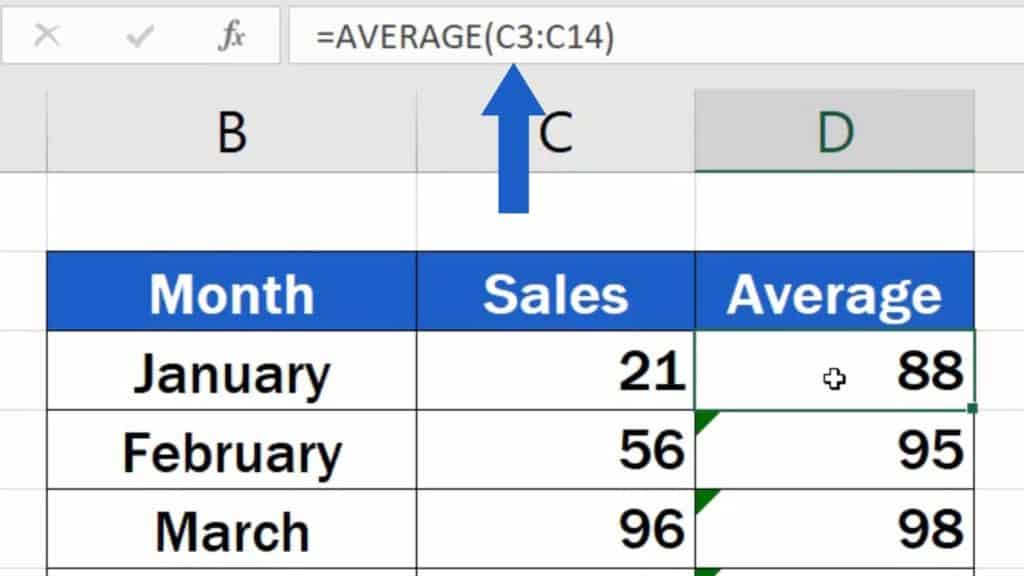 How to Add Average line in Excel Graph - Cell range C3 to C14
