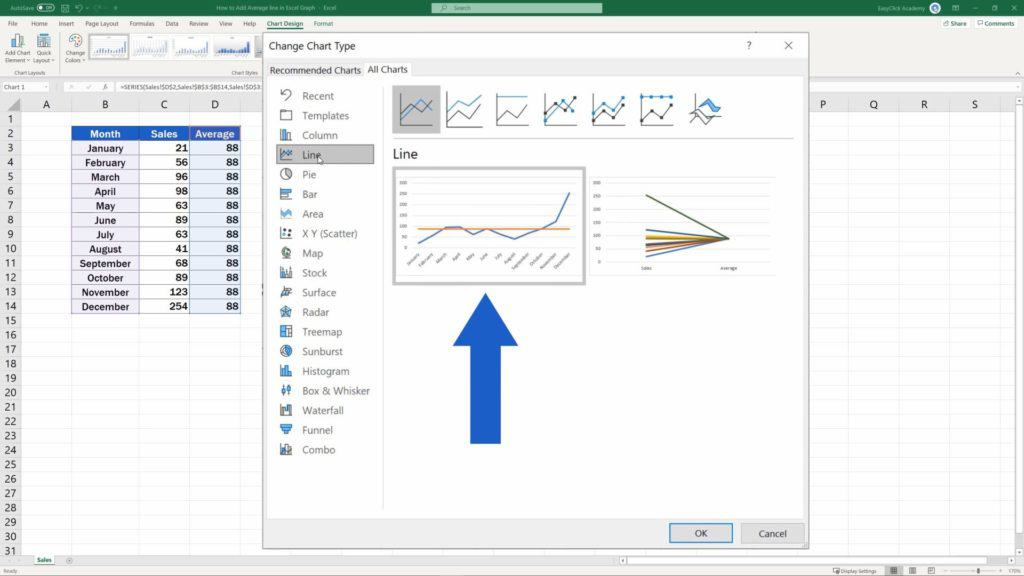 How to Add Average line in Excel Graph - both graphs would be line graphs