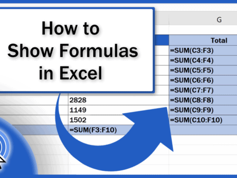 How to Show Formulas in Excel