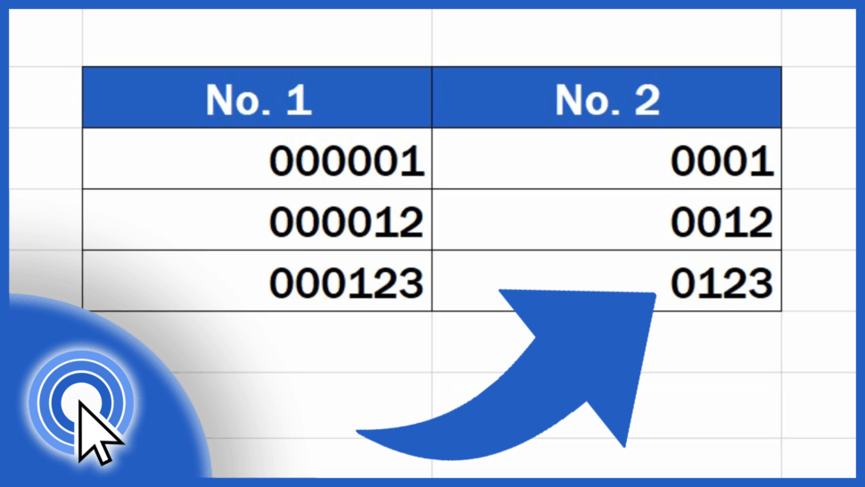 How to Add Leading Zeros in Excel