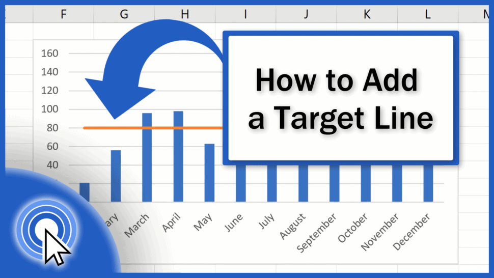 How to Add a Target Line in Excel Graph