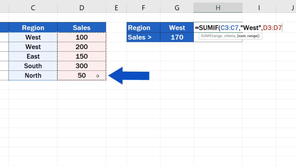 How to Use SUMIF Function in Excel  - SUMIF formula - sum range