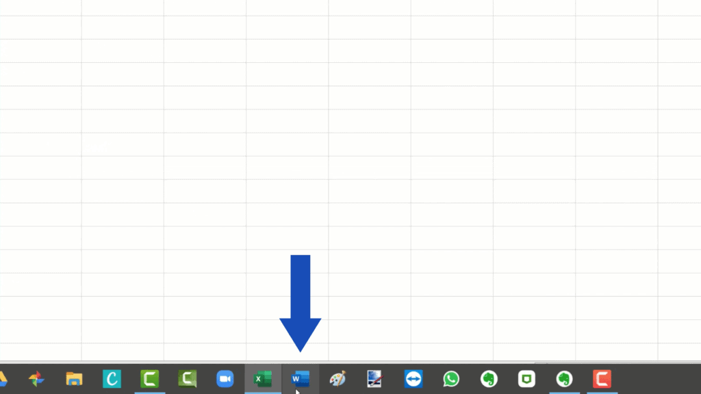 How to Count Words in Excel -Open Microsoft Word