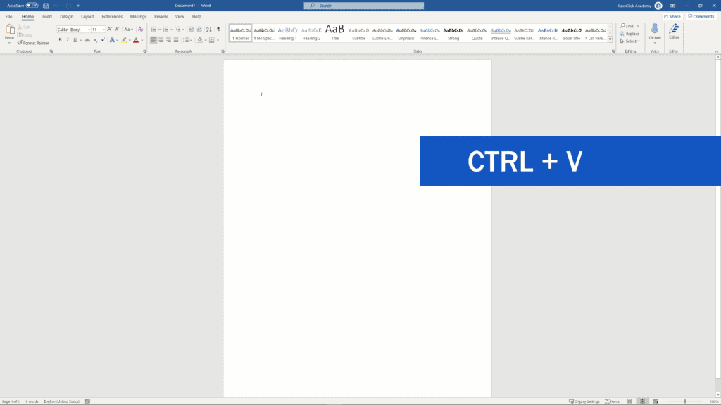 How to Count Words in Excel - Use CTRC + V