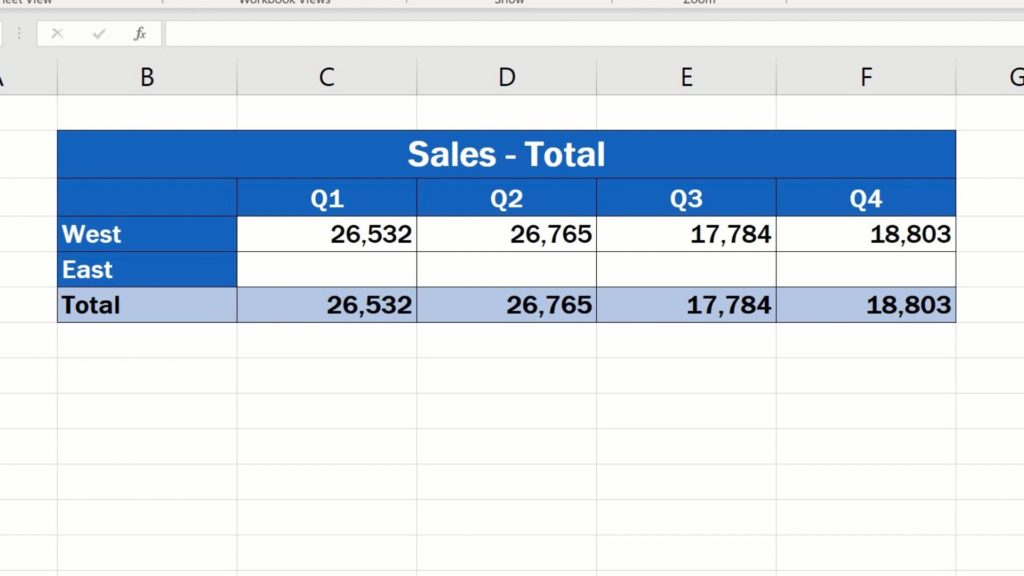 How to Link Cells in Different Excel Spreadsheets - copy the link throught the all quarters