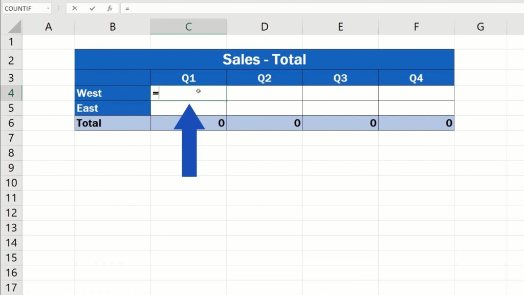 How to Link Cells in Different Excel Spreadsheets - equal sign