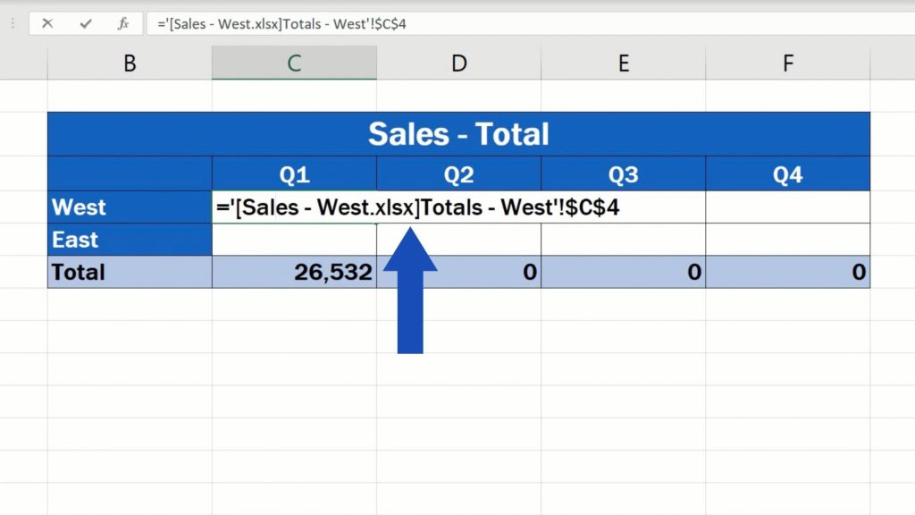 How to Link Cells in Different Excel Spreadsheets - formula