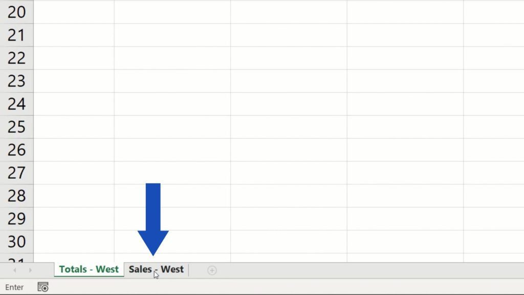 How to Link Cells in Different Excel Spreadsheets - sales west