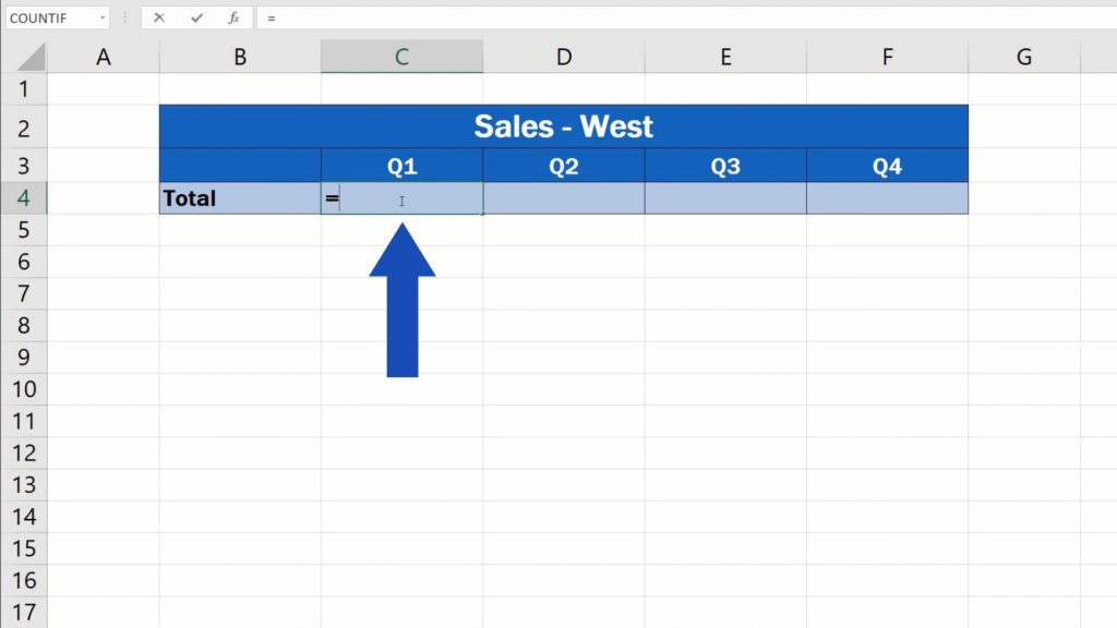 How to Link Cells in Different Excel Spreadsheets - select the cell where you'd like to show the information from the other spreadsheet