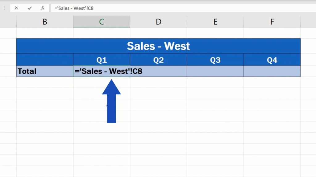 How to Link Cells in Different Excel Spreadsheets - the formula