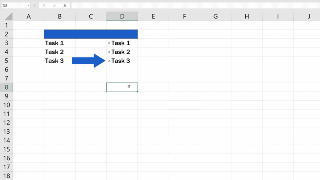 How to Insert Bullet Points in Excel - Excel adds empty bullet points