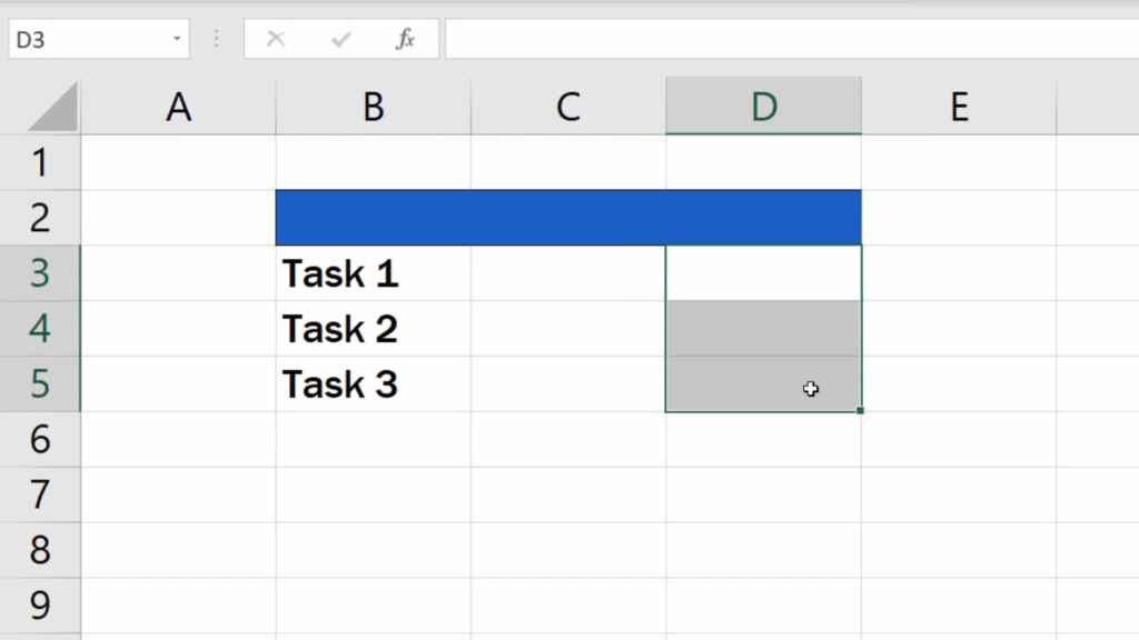 How to Insert Bullet Points in Excel - select the cells