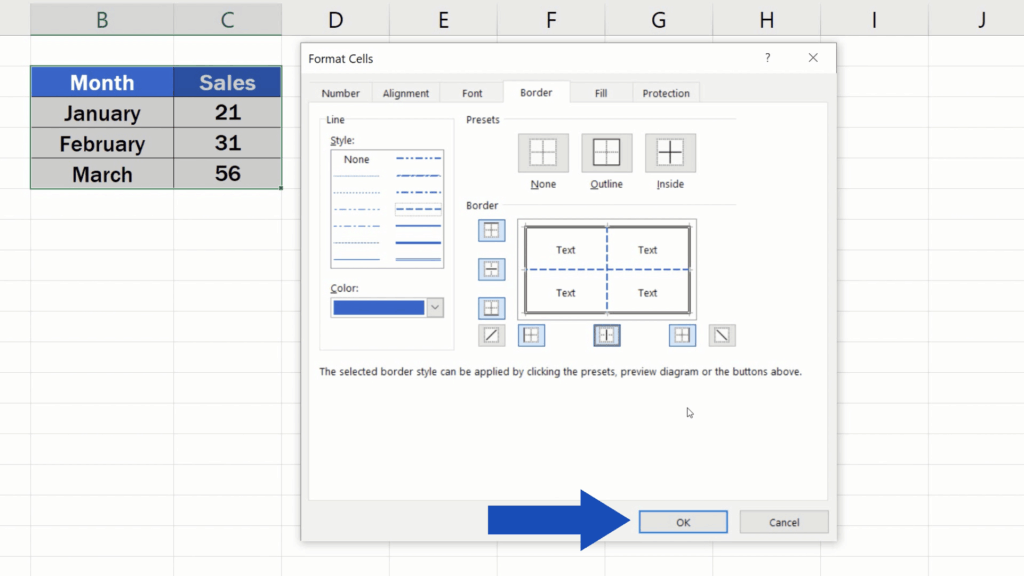 How to Make Borders in Excel - OK