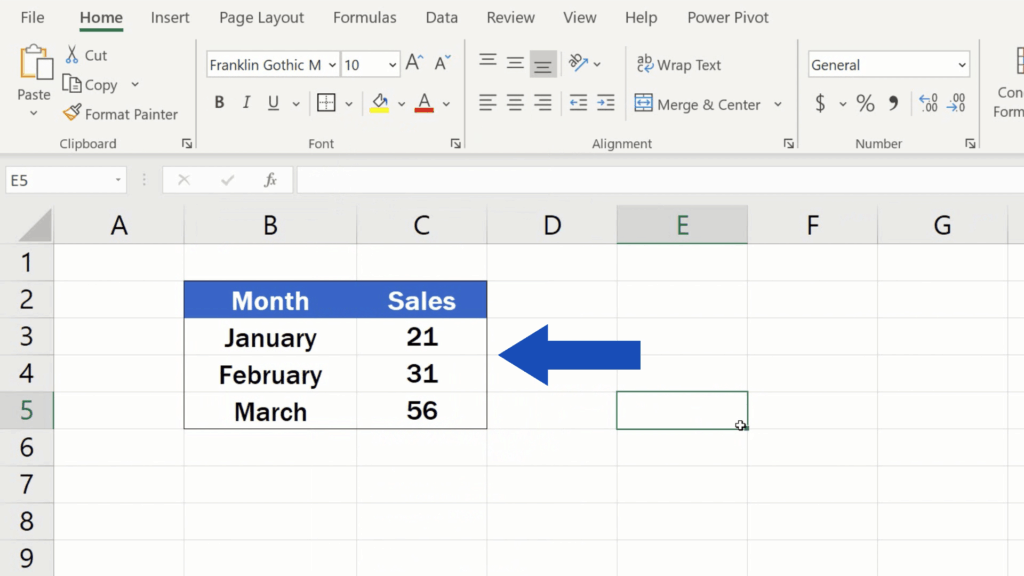 How to Make Borders in Excel - border around the table