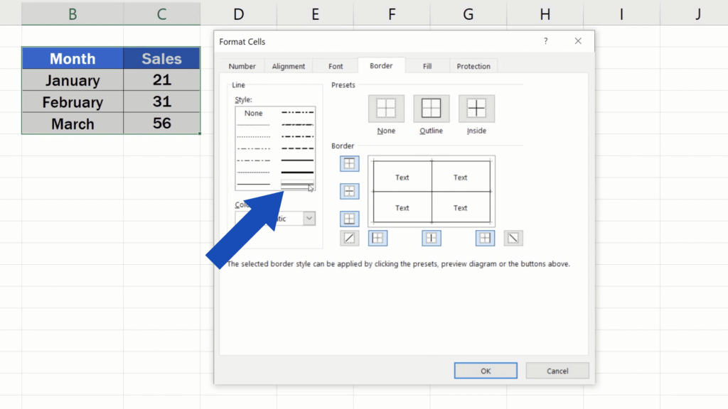 How to Make Borders in Excel - double line