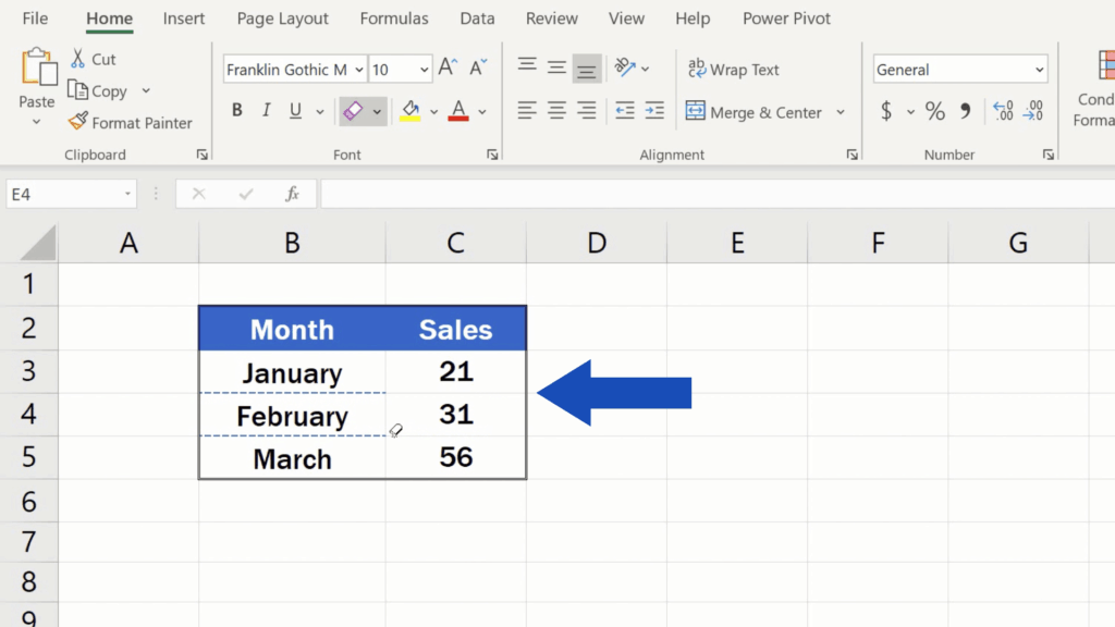 How to Make Borders in Excel - erase border line you want