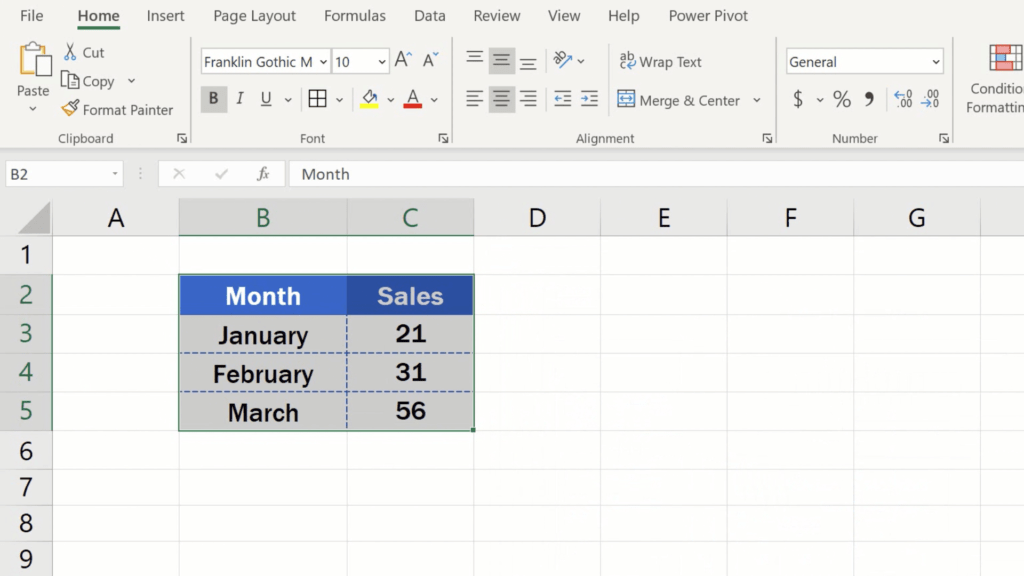 How to Make Borders in Excel - result