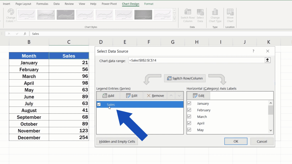 How to Rename a Legend in an Excel Chart - option sales