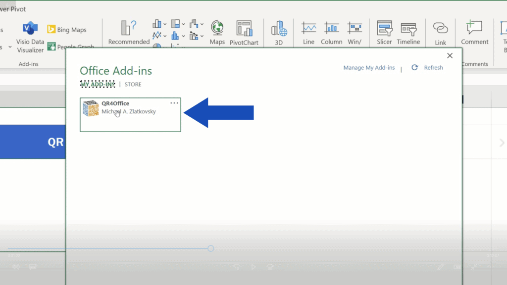 How to Create aQR Code in Excel -  Double click