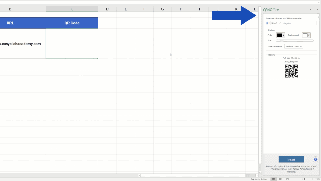 How to Create aQR Code in Excel -  QR Code