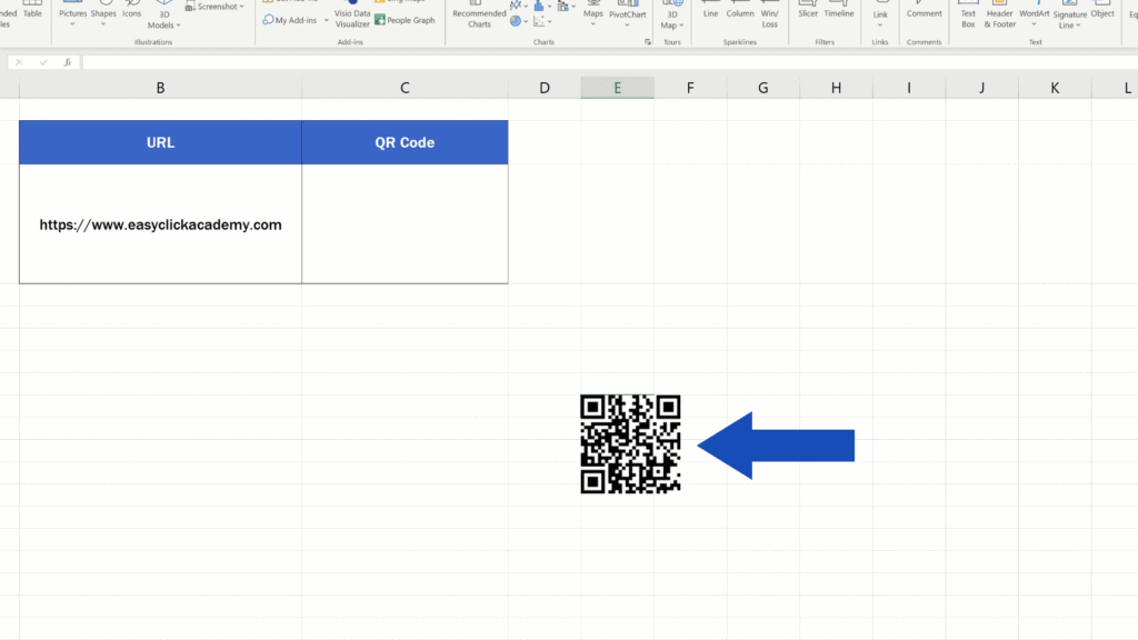 How to Create aQR Code in Excel -  Ready QR Code