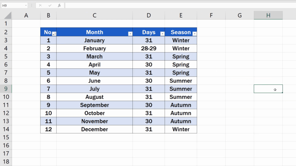 How to Highlight Every Other Row in Excel - Every other row in the table has been highlighted