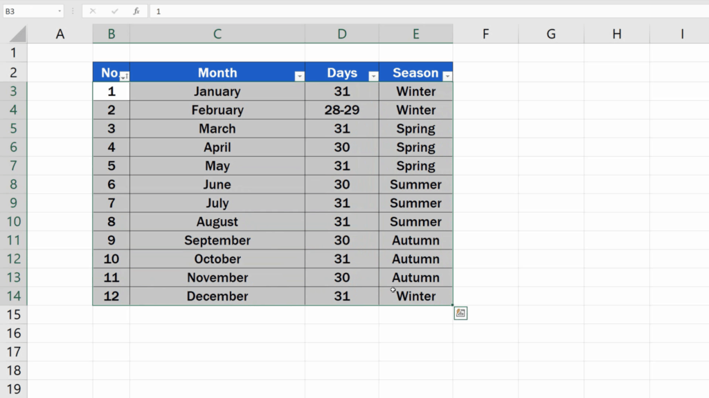 How to Highlight Every Other Row in Excel - the applicable area