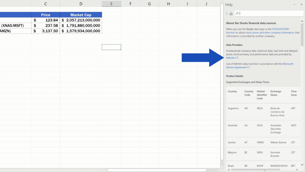 How to Get Stock Prices in Excel - Refinitiv