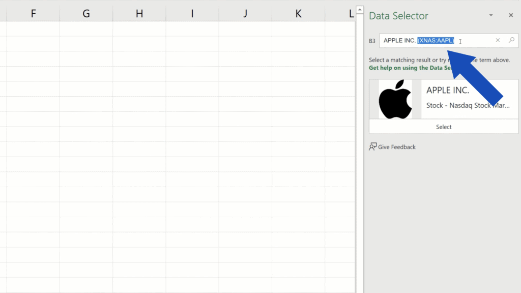 How to Get Stock Prices in Excel - delete the stock exchange