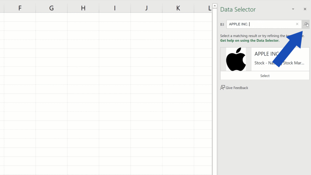How to Get Stock Prices in Excel - search icon