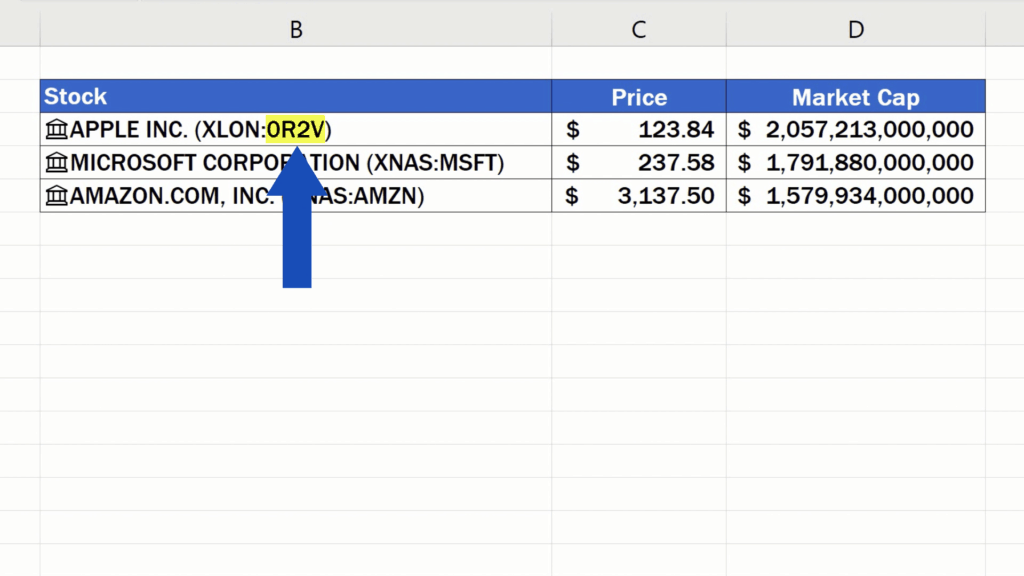 How to Get Stock Prices in Excel - the ticker has also changed