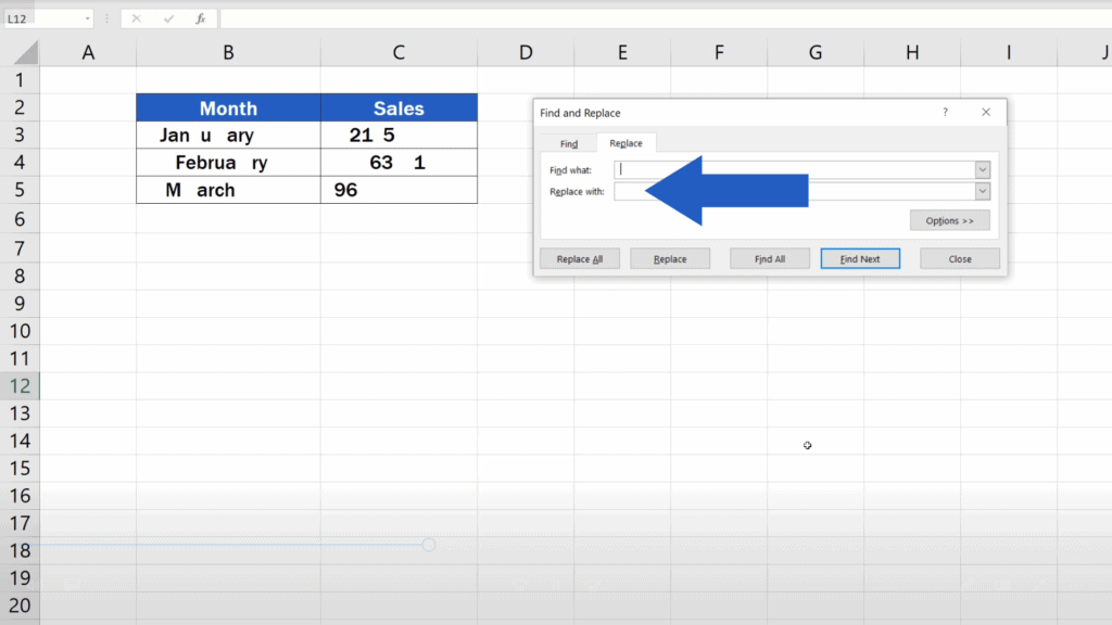 How to Remove Spaces in Excel - replace with
