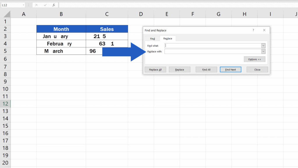 How to Remove Spaces in Excel - two text fields