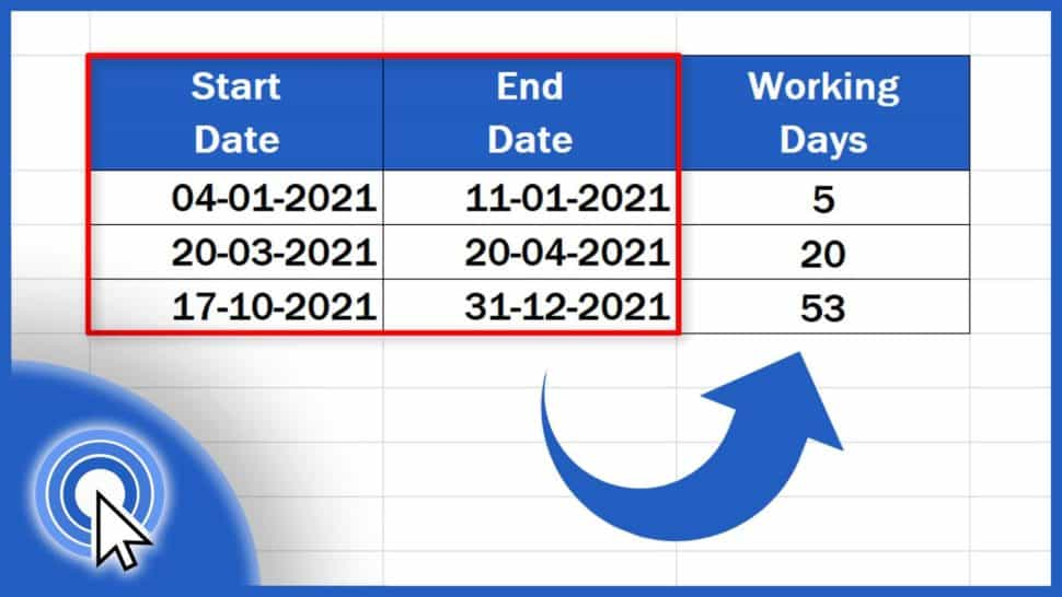 How to Calculate Working Days in Excel