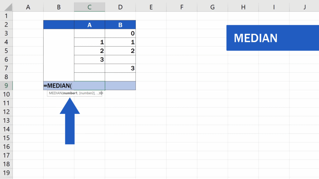 How to Calculate the Median in Excel - Median function