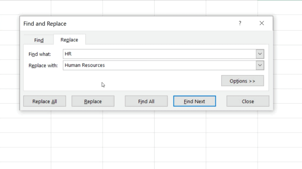 How to Replace Words in Excel - Find what - Replace with