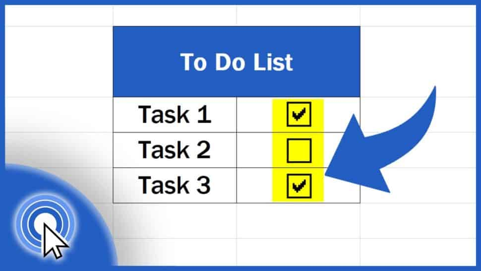 How to Insert aCheckbox in Excel