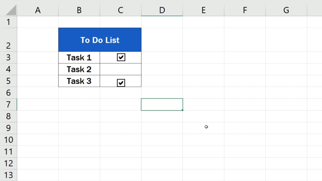 How to Insert aCheckbox in Excel - the checkbox removed