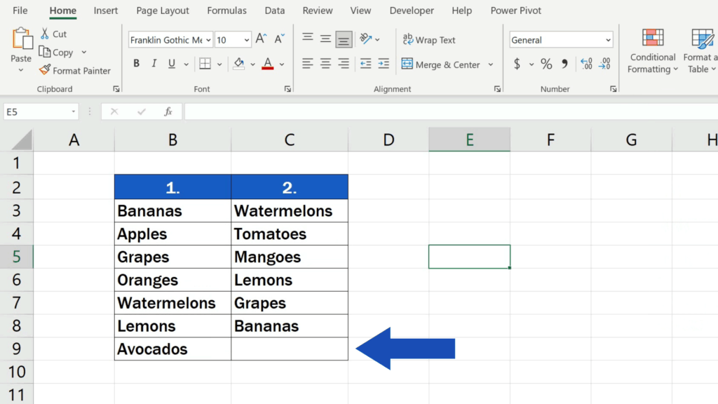 How to Compare Two Columns in Excel to Find Differences - Highlighting in the columns will disappear completely