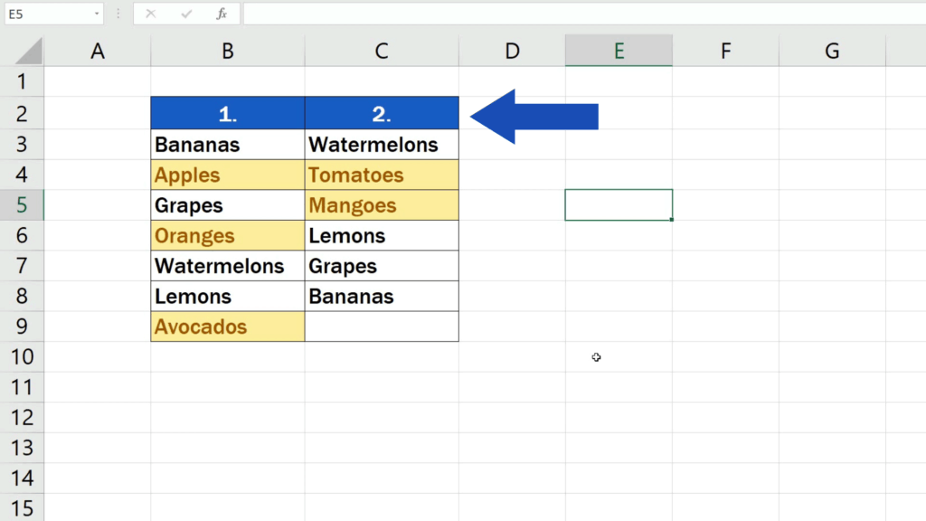 How to Compare Two Columns in Excel to Find Differences - The Filter option has been removed