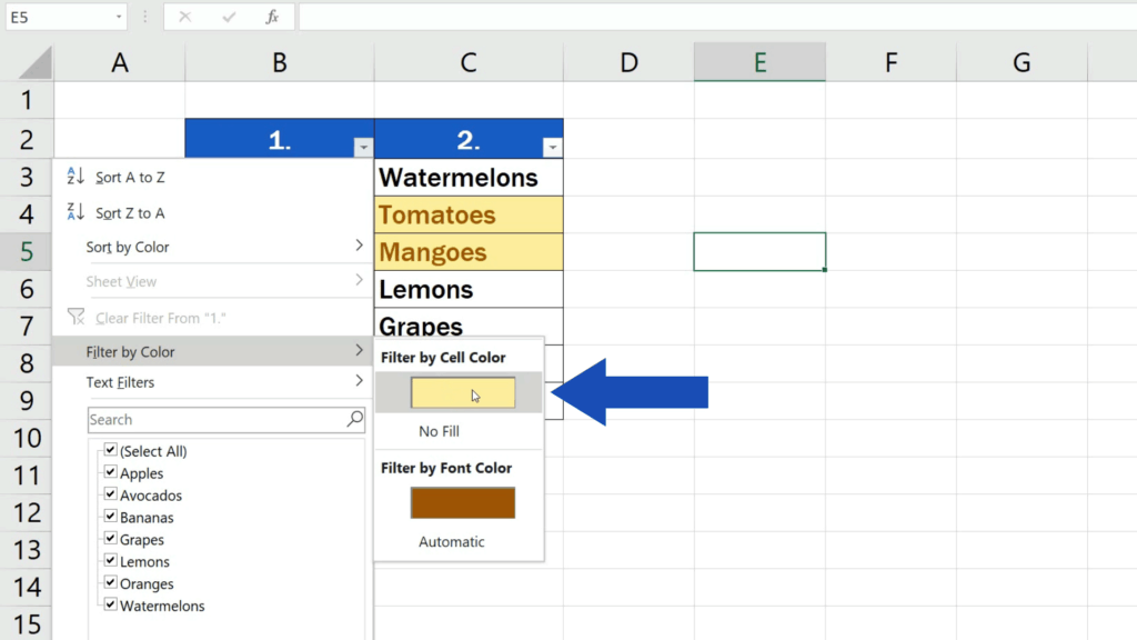 How to Compare Two Columns in Excel to Find Differences - display only the unique values in the first column